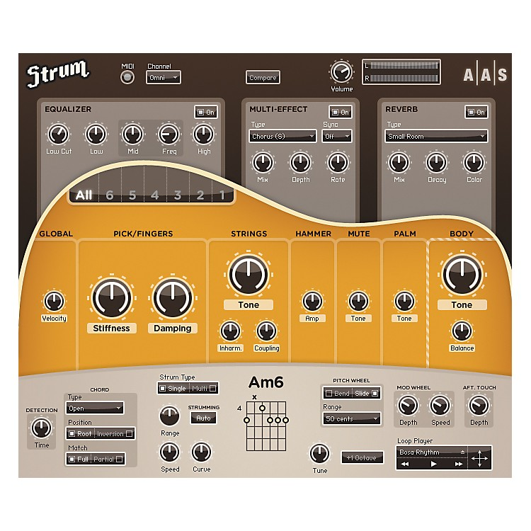 AASStrum Acoustic GS-1 Guitar Software Synth