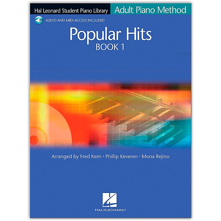 Hal Leonard Student Piano Library Adult Piano Method Popular Hits 1 Book/CD Pkg