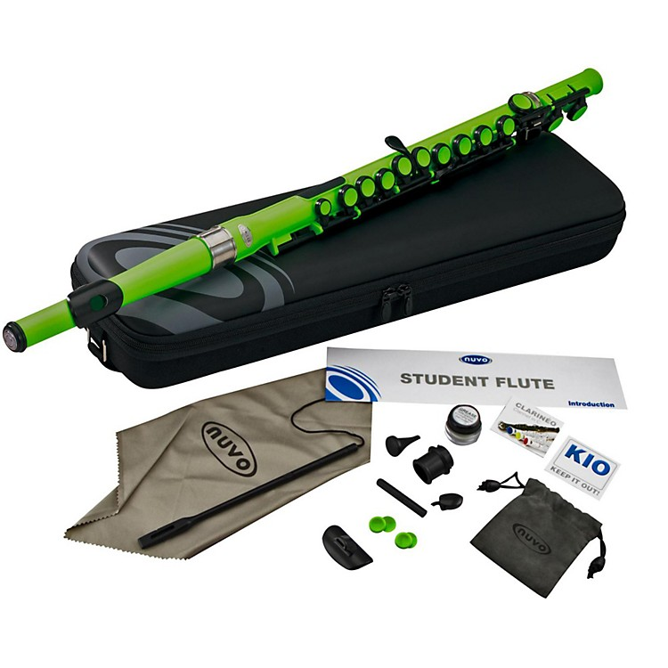 Nuvo Student Plastic Flute Kit Laser Green