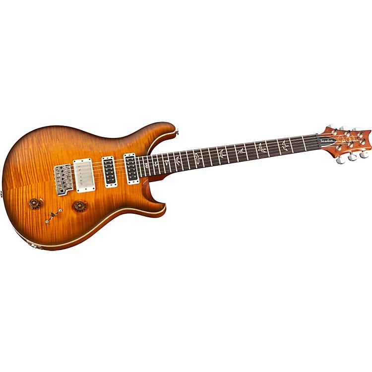 PRS Studio 10-Top With Pattern Thin Neck Electric Guitar Smoked Orange