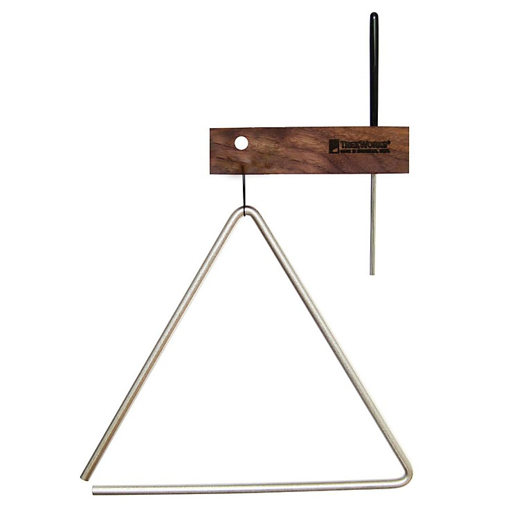 TreeWorks Studio Grade Triangle with Beater & Holder 10 Inch