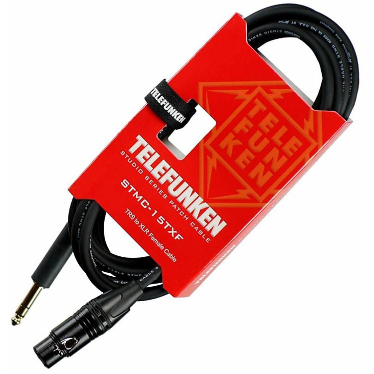 TelefunkenStudio Series TRS - XLR Female Cable30 ft.Black