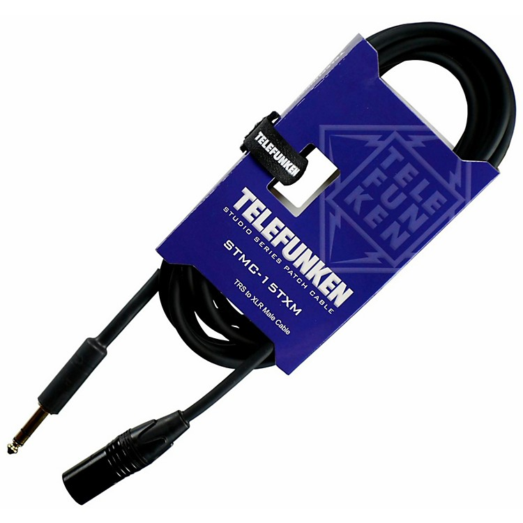 TelefunkenStudio Series TRS - XLR Male Cable30 ft.Black
