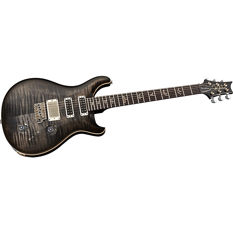 PRS Studio with Pattern Thin Neck Electric Guitar Black Gold Wrap