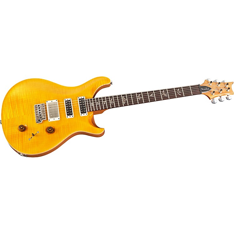 PRS Studio with Pattern Thin Neck Electric Guitar Santana Yellow