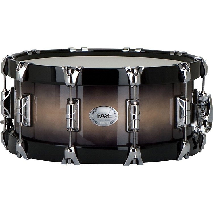 Taye Drums StudioBirch Wood Hoop Snare Drum Natural to Black Burst, All Birch Shell with All Maple Wood 14
