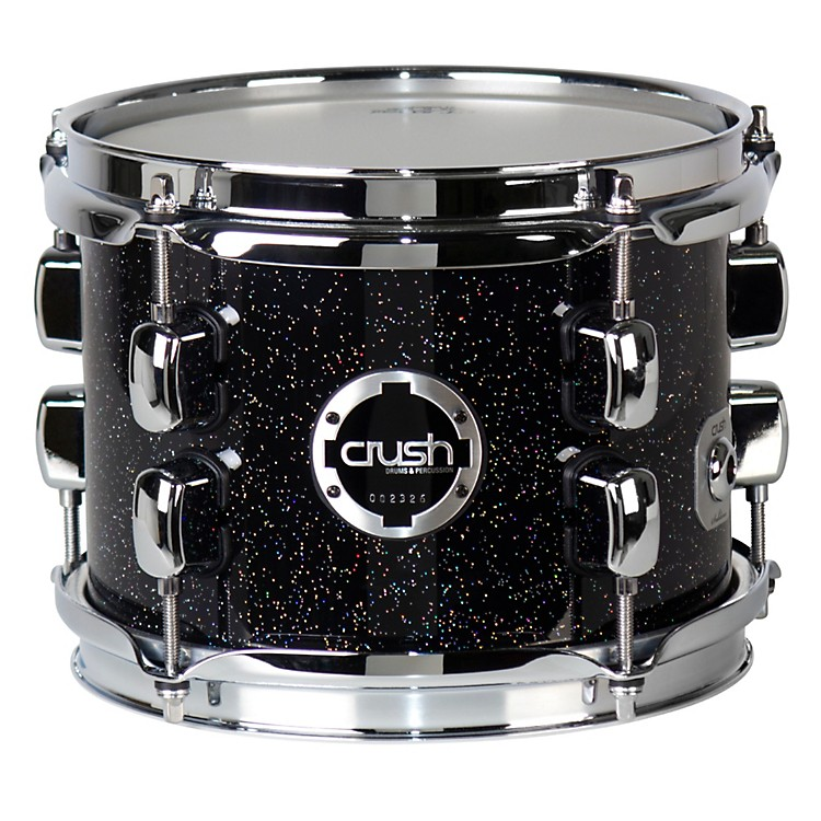 Crush Drums & Percussion Sublime E3 Maple Tom Blue Sparkle Black Base 8x6