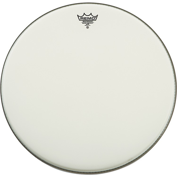 Remo Suede Emperor Bass Drum Heads 22 in.