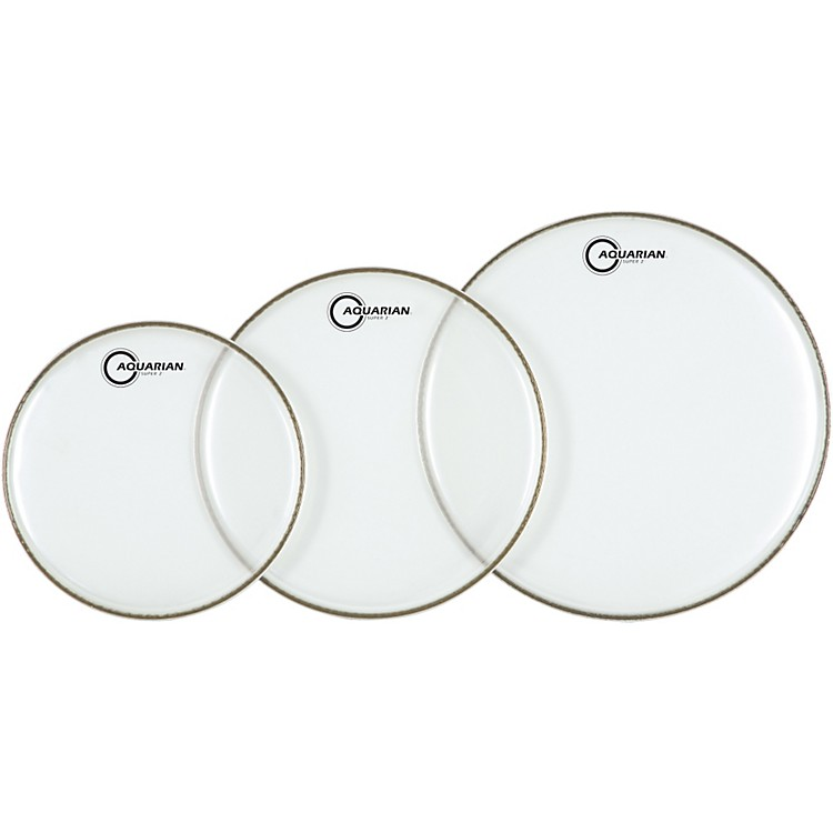 Aquarian Super-2 Clear Rock Drumhead Pack