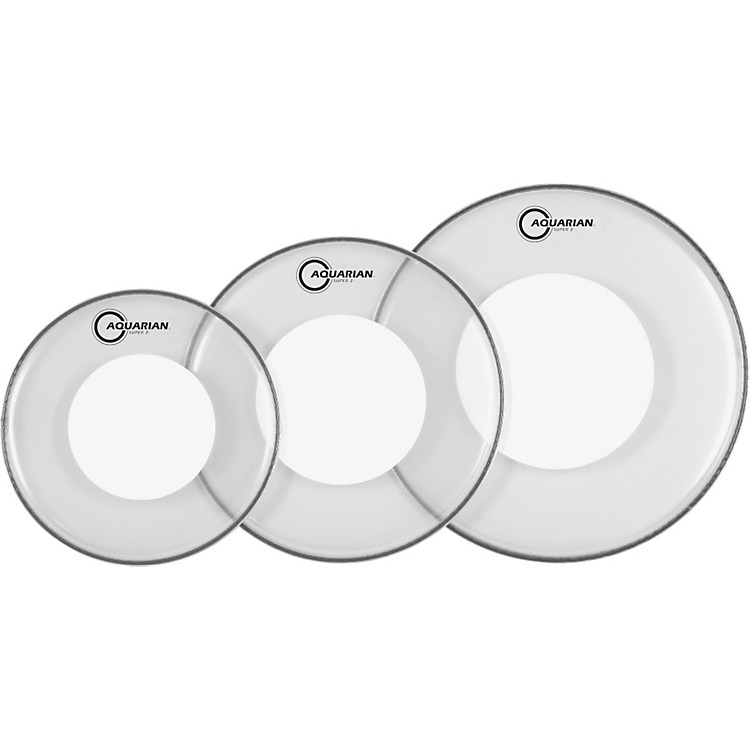 AquarianSuper-2 Drumheads with Power Dot Rock Pack