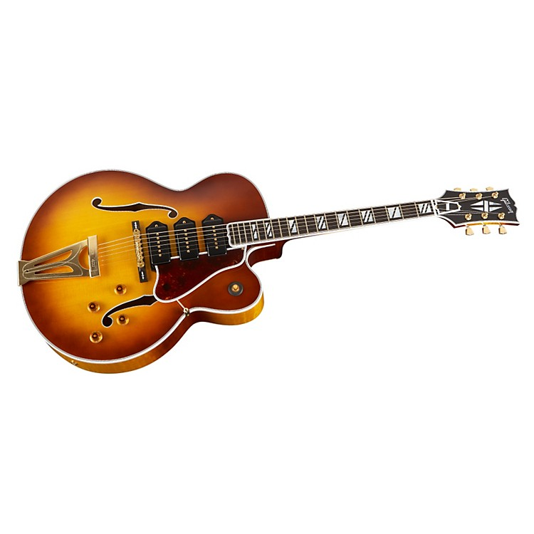 Gibson Custom Super 400 Hollowbody Electric Guitar with Triple P-90s Iced Tea