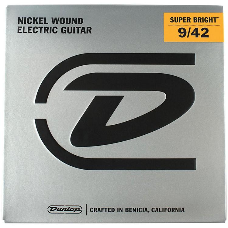 DunlopSuper Bright Light Nickel Wound Electric Guitar Strings (9-42)