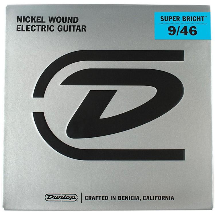DunlopSuper Bright Light Top/Heavy Bottom Nickel Wound Electric Guitar Strings (9-46)