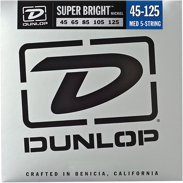 Dunlop Super Bright Nickel Medium 5-String Bass Guitar Strings