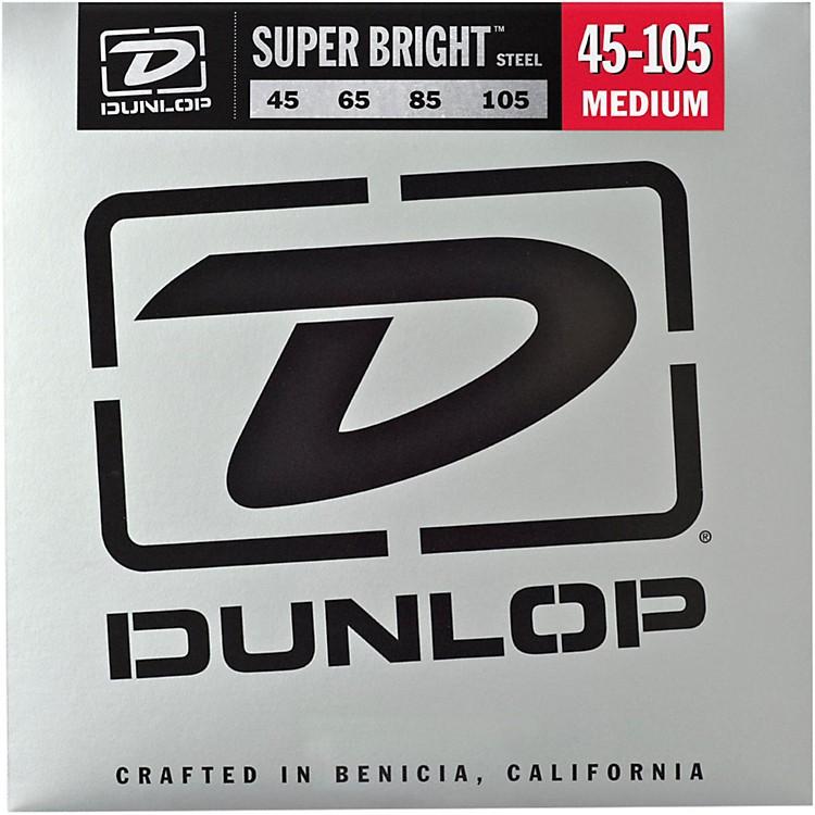 DunlopSuper Bright Steel Medium 4-String Bass Guitar Strings