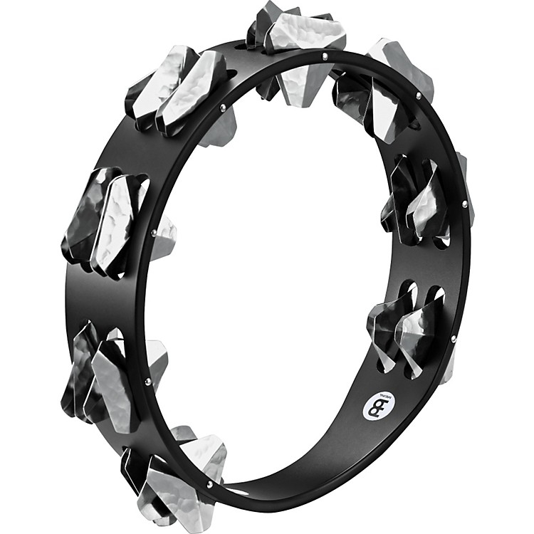 Meinl Super-Dry Studio Wood Tambourine Two Rows Stainless Steel Jingles Black