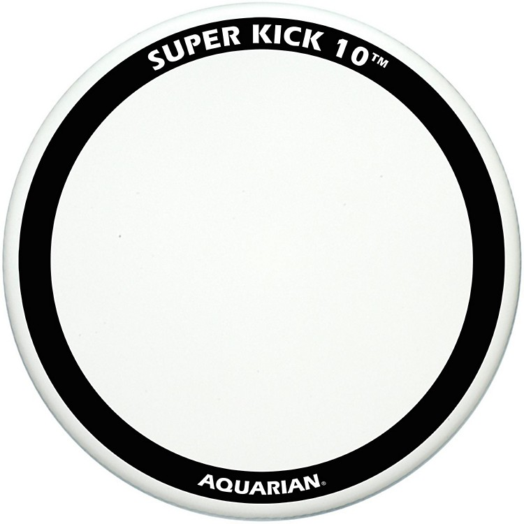 Aquarian Super-Kick 10 Bass Drum Head White Coated 24 in.