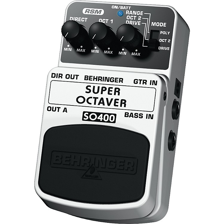 Behringer Super Octaver SO400 Guitar/Bass Effects Pedal