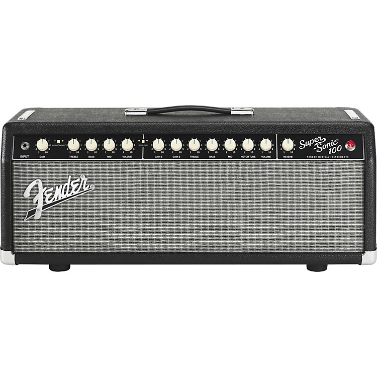 Fender Super-Sonic 100 100W Tube Guitar Amp Head Black