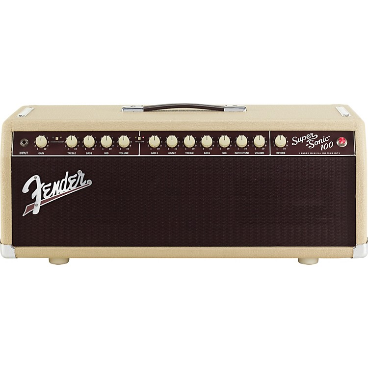 Fender Super-Sonic 100 100W Tube Guitar Amp Head Blonde