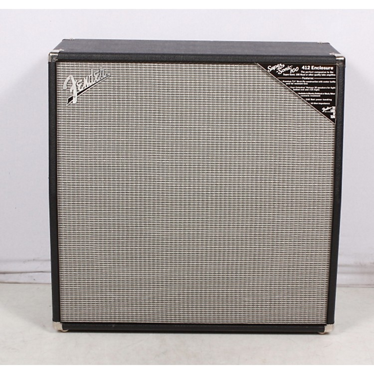Fender Super-Sonic 100 412 4x12 Guitar Speaker Cabinet Black 886830429521