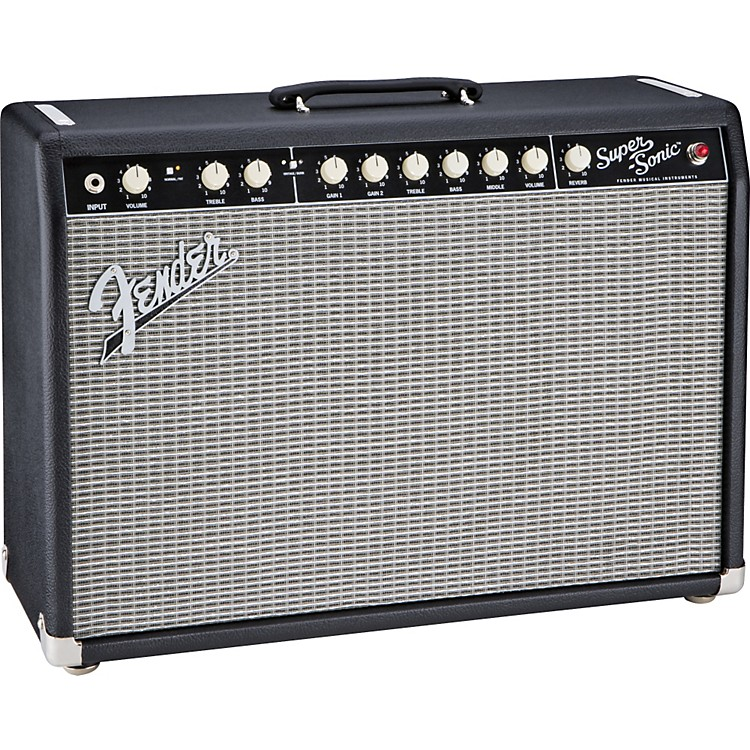 Fender Super-Sonic 22 22W 1x12 Tube Guitar Combo Amp Black