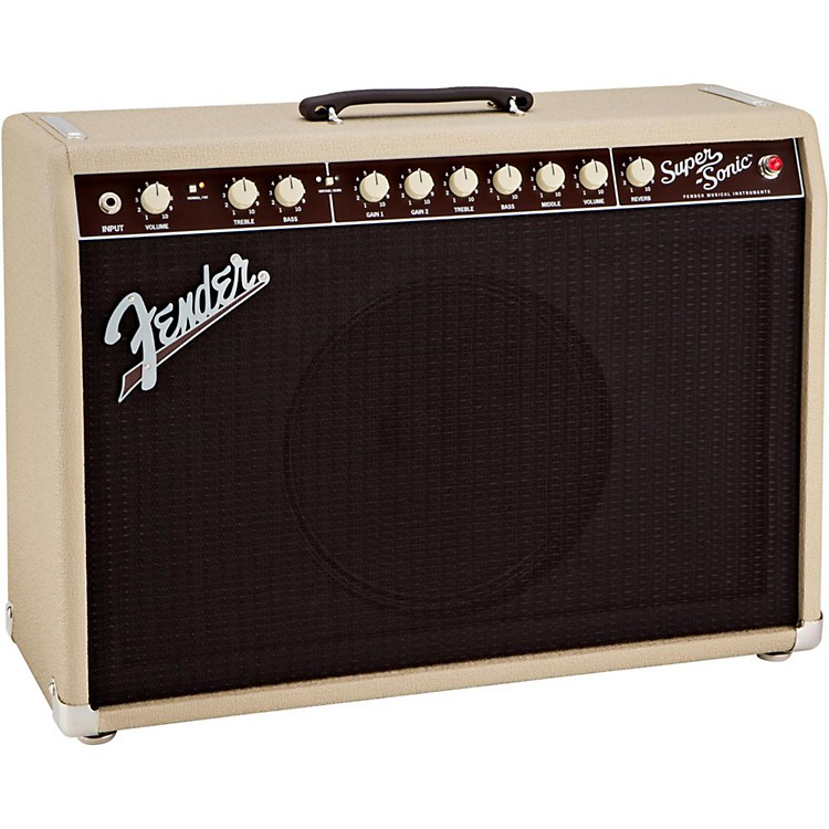 Fender Super-Sonic 22 22W 1x12 Tube Guitar Combo Amp Blonde