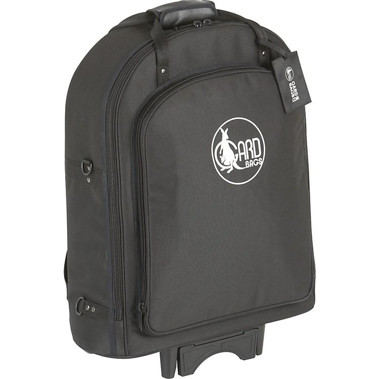 GardSuper Triple Trumpet Wheelie Bag14-WBFLK BlackUltra Leather