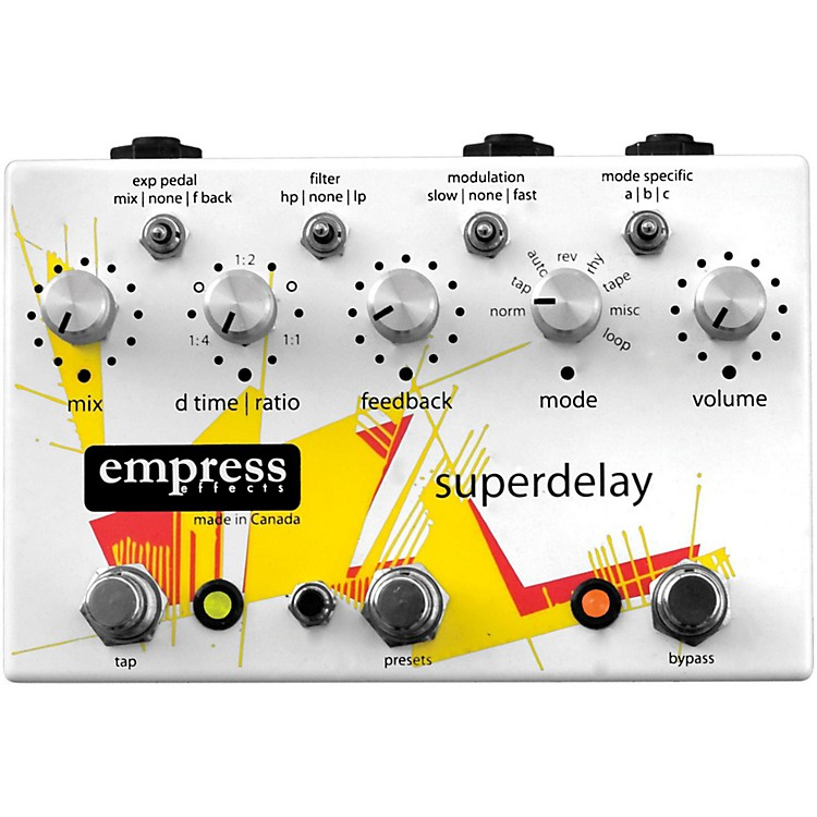 Empress EffectsSuperdelay Guitar Effects PedalWhite