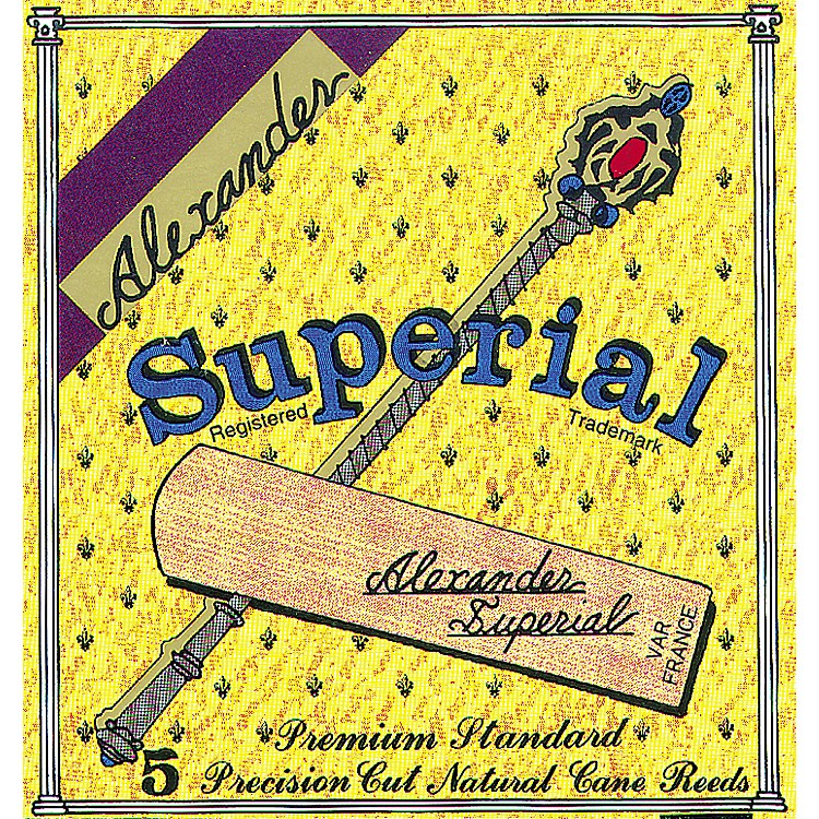 Alexander Reeds Superial Bb Clarinet Reed Strength 2 Box of 5