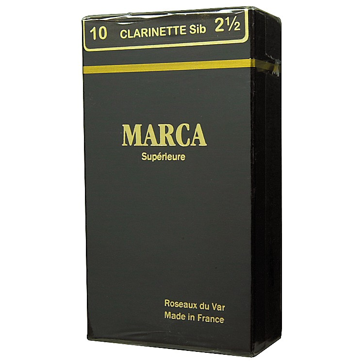 Marca Superieure Bb Clarinet Superieur Reeds Strength 4 Box of 10