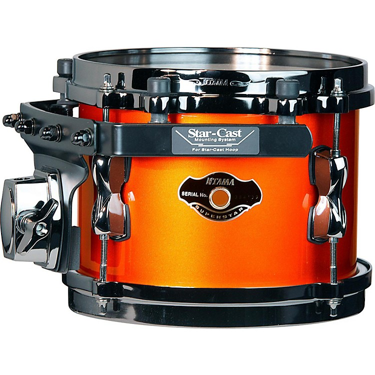Tama Superstar Hyper-Drive SK Tom Orange Metallic with Black Nickel Hardware 8x6