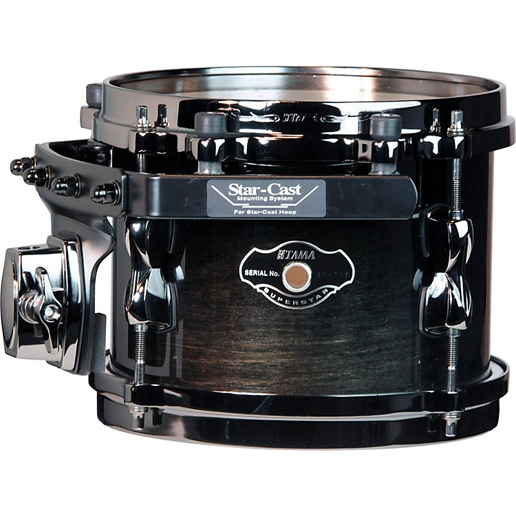Tama Superstar Hyper-Drive SK Tom Transparent Black Fade with Black Nickel Hardware 8x6