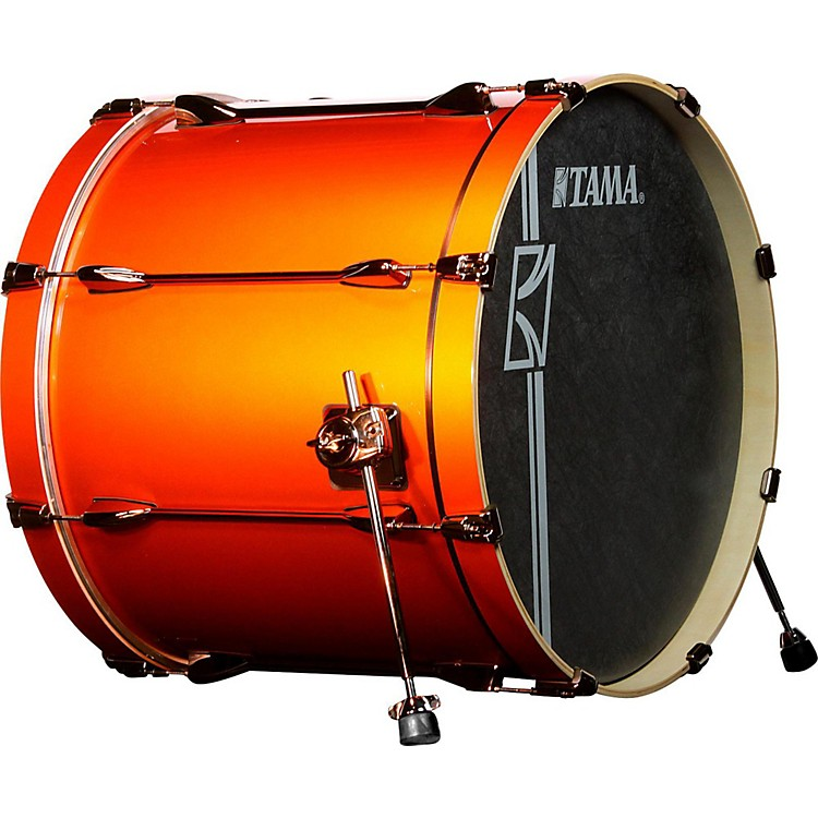 Tama Superstar Hyper-Drive SL Bass Drum with Black Nickel Hardware 22 x 18 in. Orange Metallic