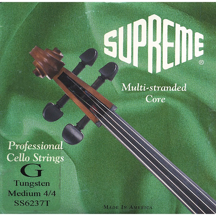 Super Sensitive Supreme Cello Strings G, Medium 4/4 Size