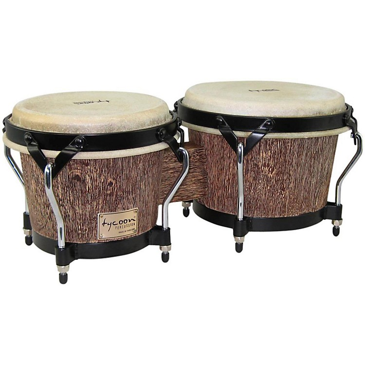Tycoon Percussion Supremo Select Series Bongos 7 and 8 1/2 in. Island Palm Finish
