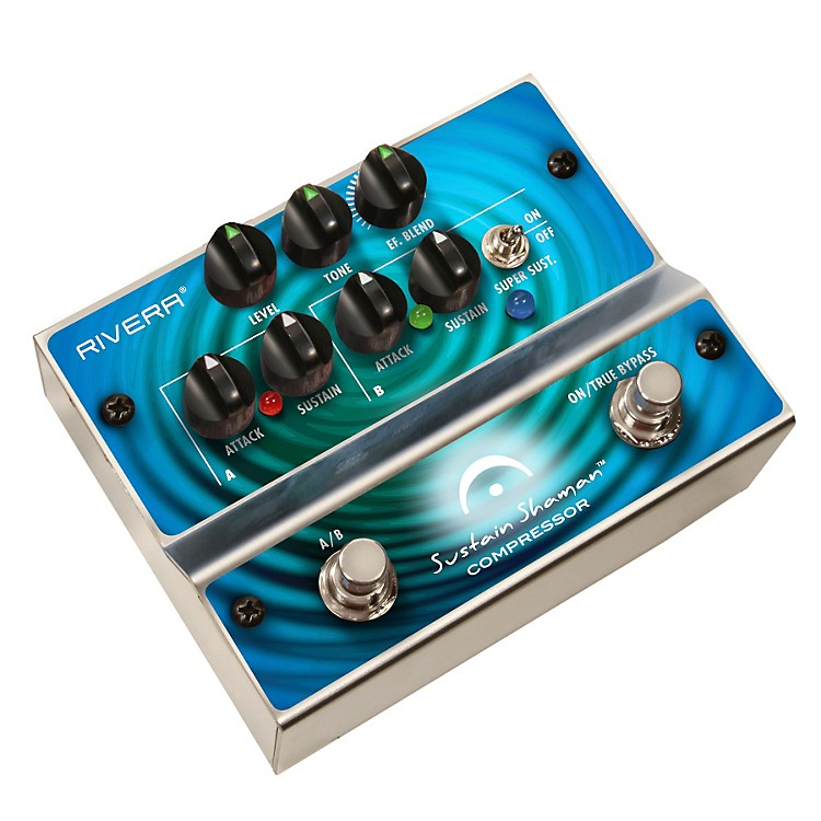 RiveraSustain Shaman Dual-Channel Compressor/Sustainer Guitar Effects Pedal