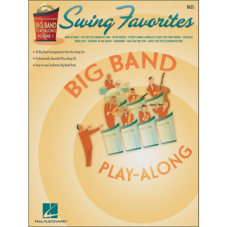 Hal LeonardSwing Favorites Big Band Play-Along Vol. 1 Bass Book/CD