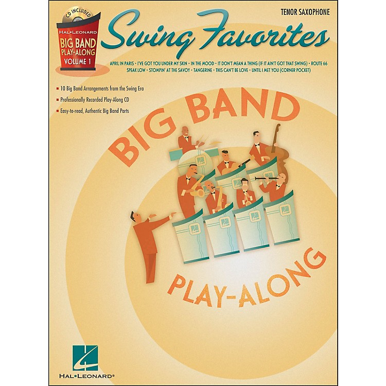 Hal LeonardSwing Favorites Big Band Play-Along Vol. 1 Tenor Sax Book/CD