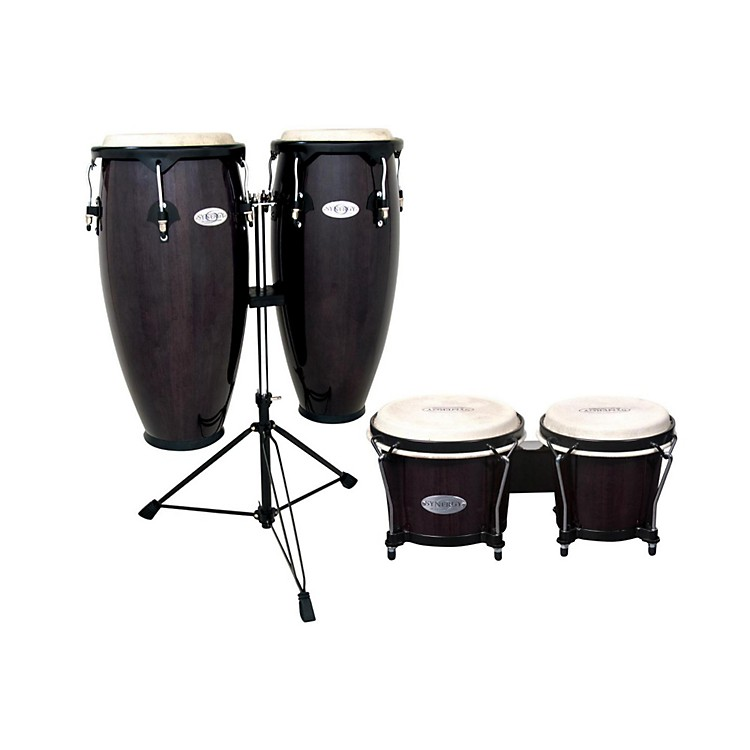 Toca Synergy Conga Set with Stand and Bongos Transparent Black