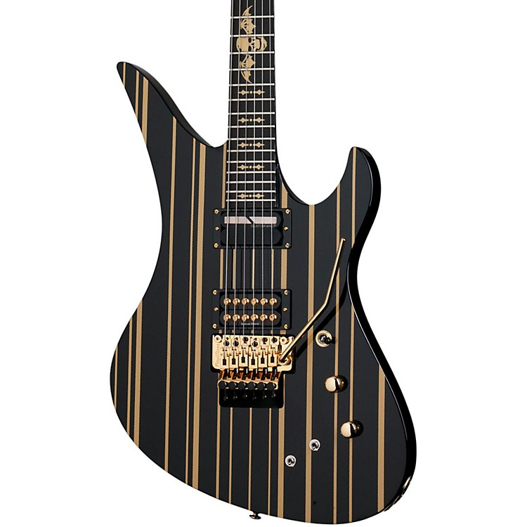 schecter guitar research synyster gates custom s electric guitar black gold music123. Black Bedroom Furniture Sets. Home Design Ideas