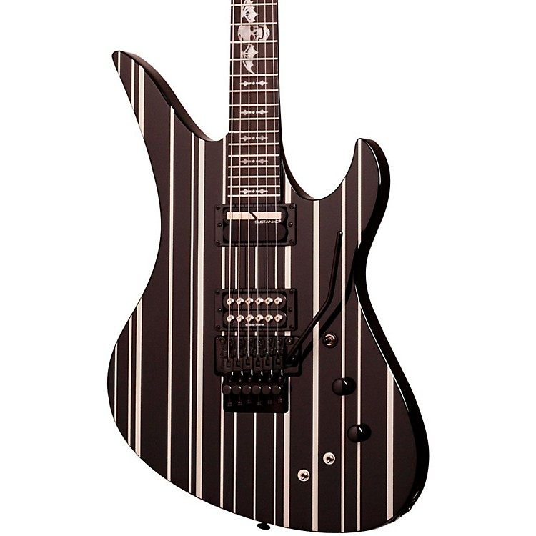 Schecter Guitar ResearchSynyster Gates Custom with Sustaniac Pickup Electric GuitarBlack