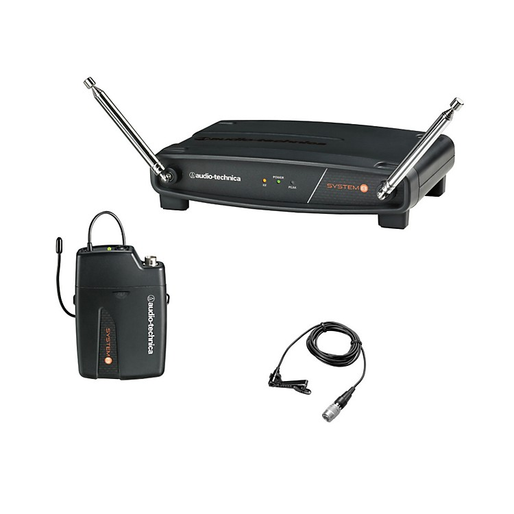 Audio-Technica System 8 Wireless System includes: UniPak Transmitter w/ Lavalier Microphone