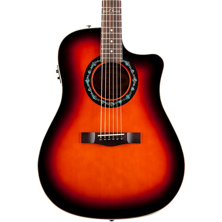 Fender T-Bucket 100-CE Acoustic-Electric Guitar 3-Color Burst