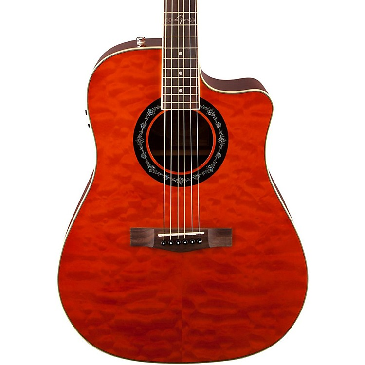 Fender T-Bucket 300 CE Cutaway Acoustic-Electric Dreadnought Guitar Amber