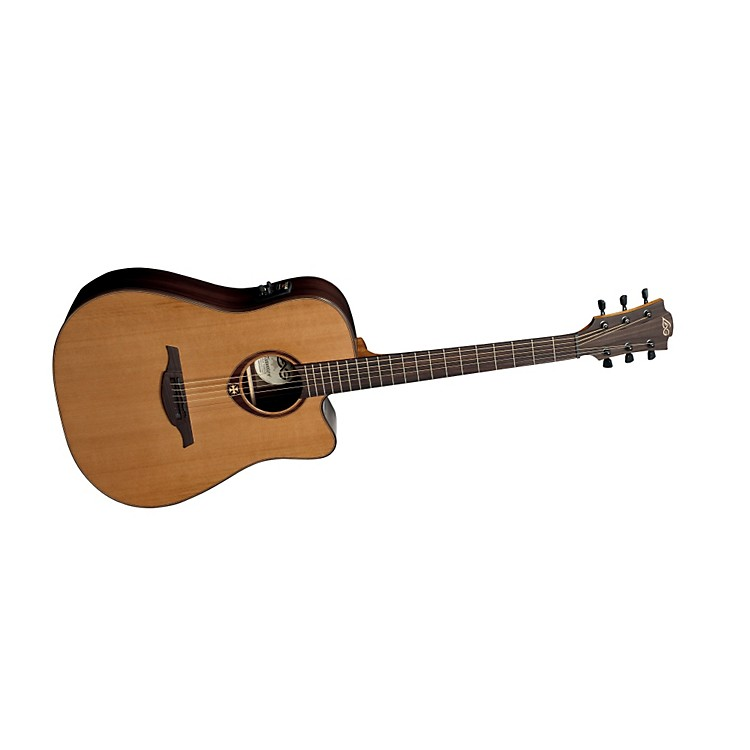 Lag GuitarsT300DCE Dreadnought Cutaway Acoustic-Electric Guitar