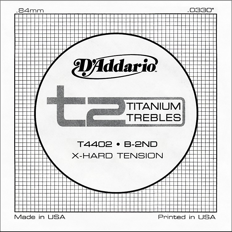 D'Addario T4402 T2 Titanium X-Hard Single Classical Guitar String