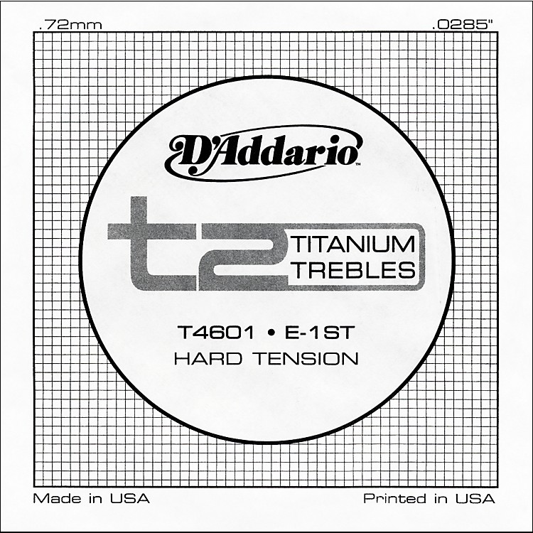 D'Addario T4601 T2 Titanium Hard Single Guitar String