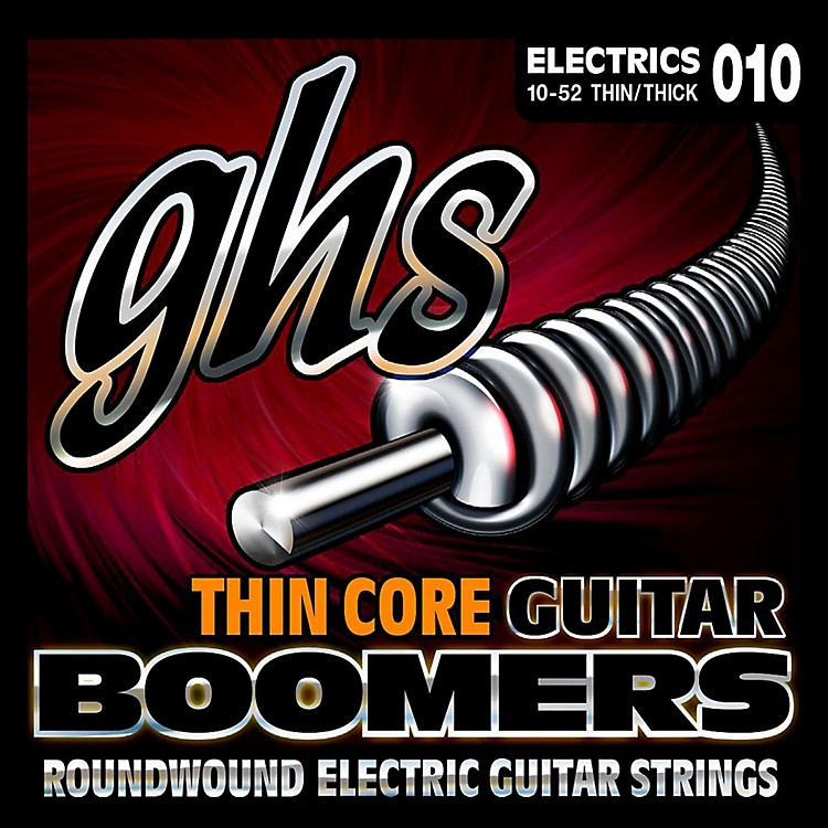 GHSTC-GBTNT Thin Core Boomers Thick N' Thin Electric Guitar Strings (10-52)