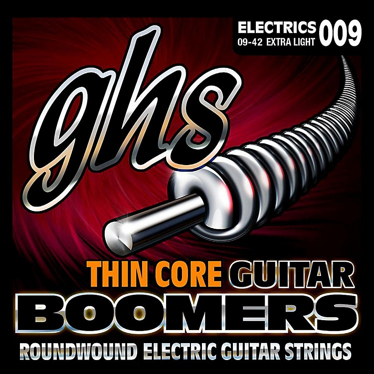 GHSTC-GBXL Thin Core Boomers Extra Light Electric Guitar Strings (9-42)